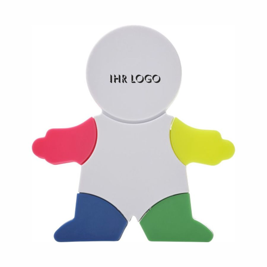 Textmarker Brush in Figur-Form aus Kunststoff (Artikelnr.: 8535.01)