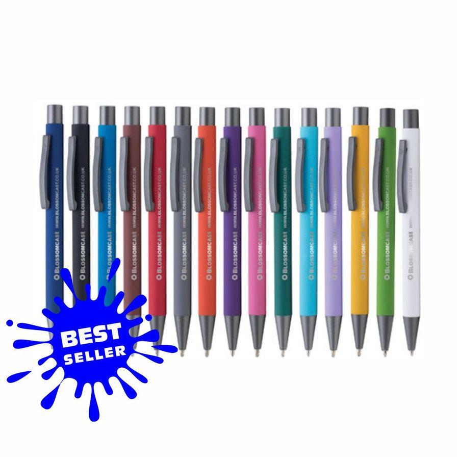 Bowie Soft Touch Kugelschreiber Bestseller inkl. Laserbeschriftung auf 1-Position (Artikelnr.: LUM)
